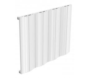 Reina Wave White Aluminium Single Panel Horizontal Radiator 600mm x 828mm