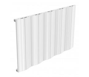 Reina Wave White Aluminium Single Panel Horizontal Radiator 600mm x 1036mm