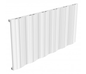 Reina Wave White Aluminium Single Panel Horizontal Radiator 600mm x 1244mm