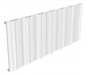 Reina Wave White Aluminium Single Panel Horizontal Radiator 600mm x 1452mm
