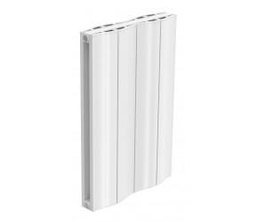 Reina Wave White Aluminium Double Panel Horizontal Radiator 600mm x 412mm