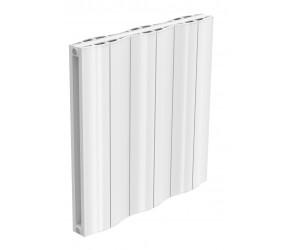 Reina Wave White Aluminium Double Panel Horizontal Radiator 600mm x 620mm