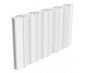Reina Wave White Aluminium Double Panel Horizontal Radiator 600mm x 1036mm