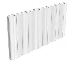 Reina Wave White Aluminium Double Panel Horizontal Radiator 600mm x 1244mm