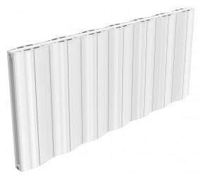 Reina Wave White Aluminium Double Panel Horizontal Radiator 600mm x 1452mm