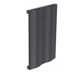 Reina Wave Anthracite Aluminium Single Panel Horizontal Radiator 600mm x 412mm