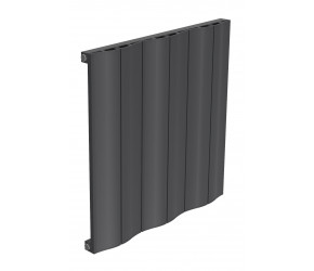 Reina Wave Anthracite Aluminium Single Panel Horizontal Radiator 600mm x 620mm