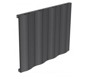Reina Wave Anthracite Aluminium Single Panel Horizontal Radiator 600mm x 828mm