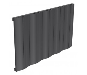 Reina Wave Anthracite Aluminium Single Panel Horizontal Radiator 600mm x 1036mm