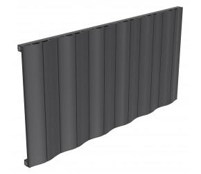 Reina Wave Anthracite Aluminium Single Panel Horizontal Radiator 600mm x 1244mm