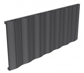 Reina Wave Anthracite Aluminium Single Panel Horizontal Radiator 600mm x 1452mm
