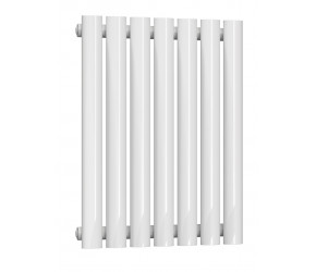 Reina Neval White Aluminium Single Panel Oval Tube Horizontal Radiator 600 x 404