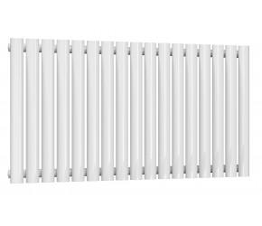 Reina Neval White Aluminium Single Panel Oval Tube Horizontal Radiator 600 x 994