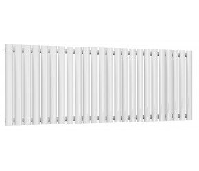 Reina Neval White Aluminium Single Panel Oval Tube Horizontal Radiator 600 x 1407