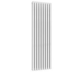 Reina Neval White Aluminium Double Panel Oval Tube Vertical Radiator 1800 x 522