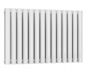 Reina Neval White Aluminium Double Panel Oval Tube Horizontal Radiator 600 x 817