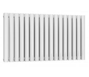 Reina Neval White Aluminium Double Panel Oval Tube Horizontal Radiator 600 x 994