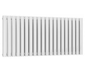 Reina Neval White Aluminium Double Panel Oval Tube Horizontal Radiator 600 x 1171