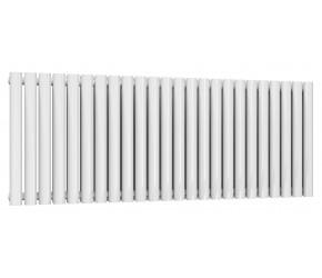 Reina Neval White Aluminium Double Panel Oval Tube Horizontal Radiator 600 x 1407