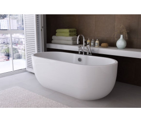 Iona Riviera Gloss White Freestanding Bath 1655mm x 750mm