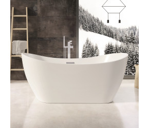 Iona Austin Gloss White Freestanding Bath 1700mm x 800mm