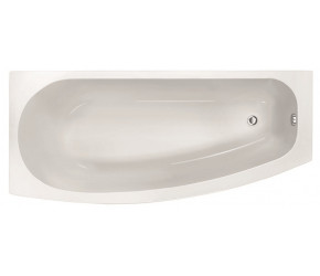 Iona Space Saver Shower Bath 1695mm x 695mm Right Hand with Panel and Screen