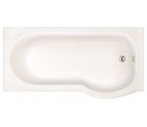 Iona P Shaped Shower Bath 1700mm x 850mm Right Hand with Panel and Screen