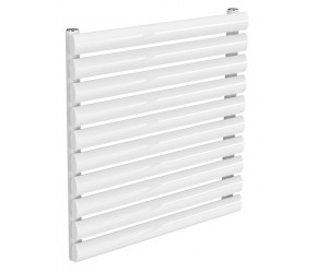 Reina Nevah White Single Panel Horizontal Radiator 590mm x 600mm