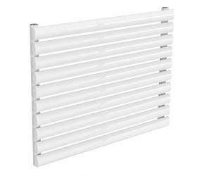 Reina Nevah White Single Panel Horizontal Radiator 590mm x 800mm