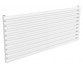 Reina Nevah White Single Panel Horizontal Radiator 590mm x 1400mm