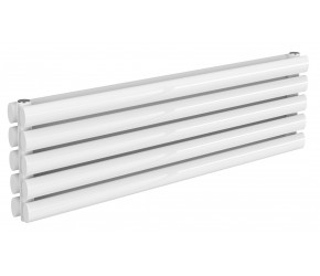 Reina Nevah White Double Panel Horizontal Radiator 295mm x 1000mm