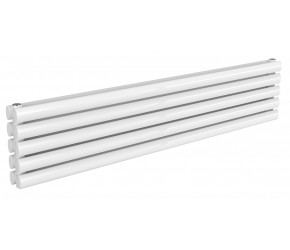 Reina Nevah White Double Panel Horizontal Radiator 295mm x 1400mm