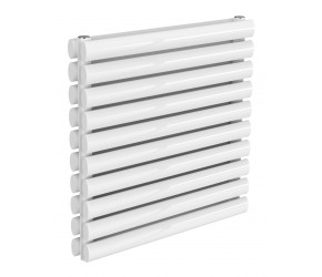 Reina Nevah White Double Panel Horizontal Radiator 590mm x 600mm