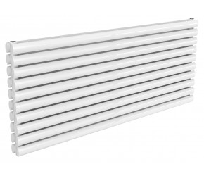 Reina Nevah White Double Panel Horizontal Radiator 590mm x 1400mm