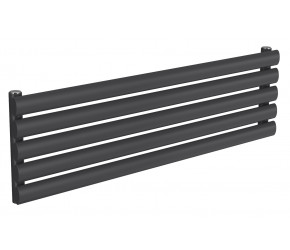 Reina Nevah Anthracite Single Panel Horizontal Radiator 295mm x 1000mm