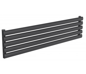 Reina Nevah Anthracite Single Panel Horizontal Radiator 295mm x 1200mm