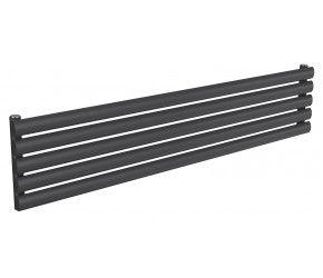 Reina Nevah Anthracite Single Panel Horizontal Radiator 295mm x 1400mm