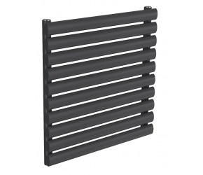 Reina Nevah Anthracite Single Panel Horizontal Radiator 590mm x 600mm
