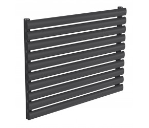 Reina Nevah Anthracite Single Panel Horizontal Radiator 590mm x 800mm