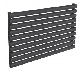 Reina Nevah Anthracite Single Panel Horizontal Radiator 590mm x 1000mm