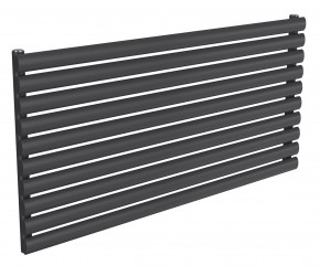 Reina Nevah Anthracite Single Panel Horizontal Radiator 590mm x 1200mm
