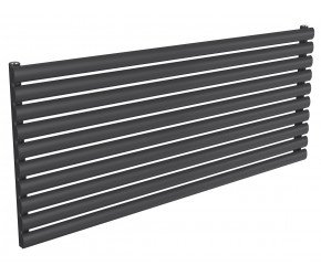 Reina Nevah Anthracite Single Panel Horizontal Radiator 590mm x 1400mm