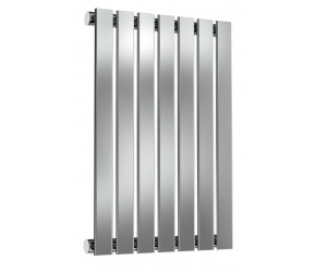 Reina Flox Polished Stainless Steel Single Panel Flat Radiator 600mm x 413mm