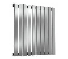 Reina Flox Polished Stainless Steel Single Panel Flat Radiator 600mm x 590mm