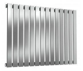 Reina Flox Polished Stainless Steel Single Panel Flat Radiator 600mm x 826mm