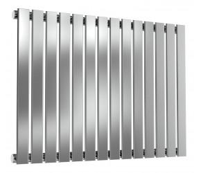 Reina Flox Polished Stainless Steel Single Panel Flat Radiator 600mm x 826mm