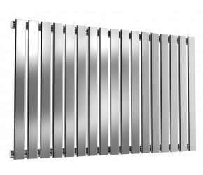 Reina Flox Polished Stainless Steel Single Panel Flat Radiator 600mm x 1003mm