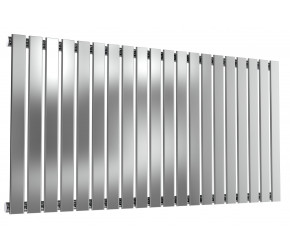 Reina Flox Polished Stainless Steel Single Panel Flat Radiator 600mm x 1180mm