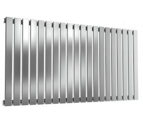 Reina Flox Polished Stainless Steel Single Panel Flat Radiator 600mm x 1180mm