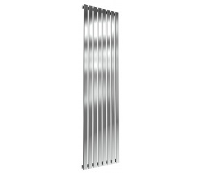 Reina Flox Polished Stainless Steel Single Panel Flat Radiator 1800mm x 472mm